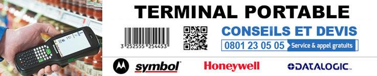 Terminal code barres portable