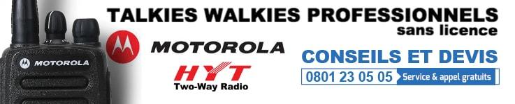 Talkie Walkie Professionnel Sans Licence