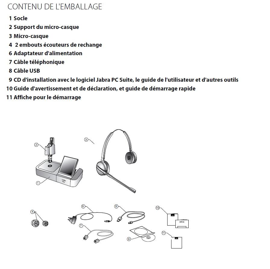 casque t l phonique sans fil gn netcom jabra pro 9460 duo. Black Bedroom Furniture Sets. Home Design Ideas