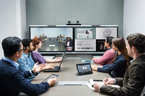 salle de réunion avec caméras PTZ