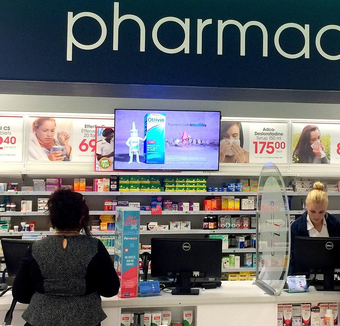 écran d'affichage pour pharmacie