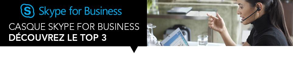 Bannière Skype for business
