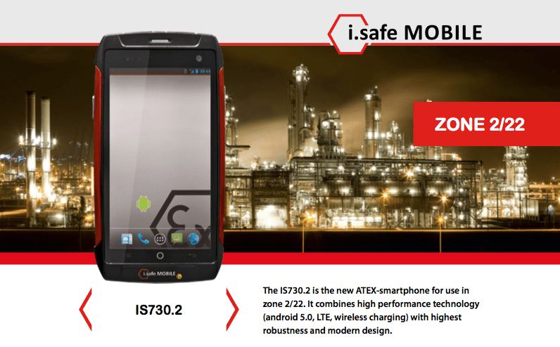 smartphone atex zone 2