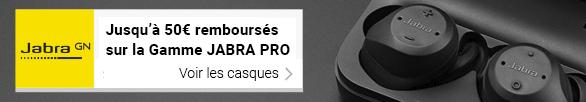 Jusqu'à 50€ remboursés sur la gamme JABRA PRO