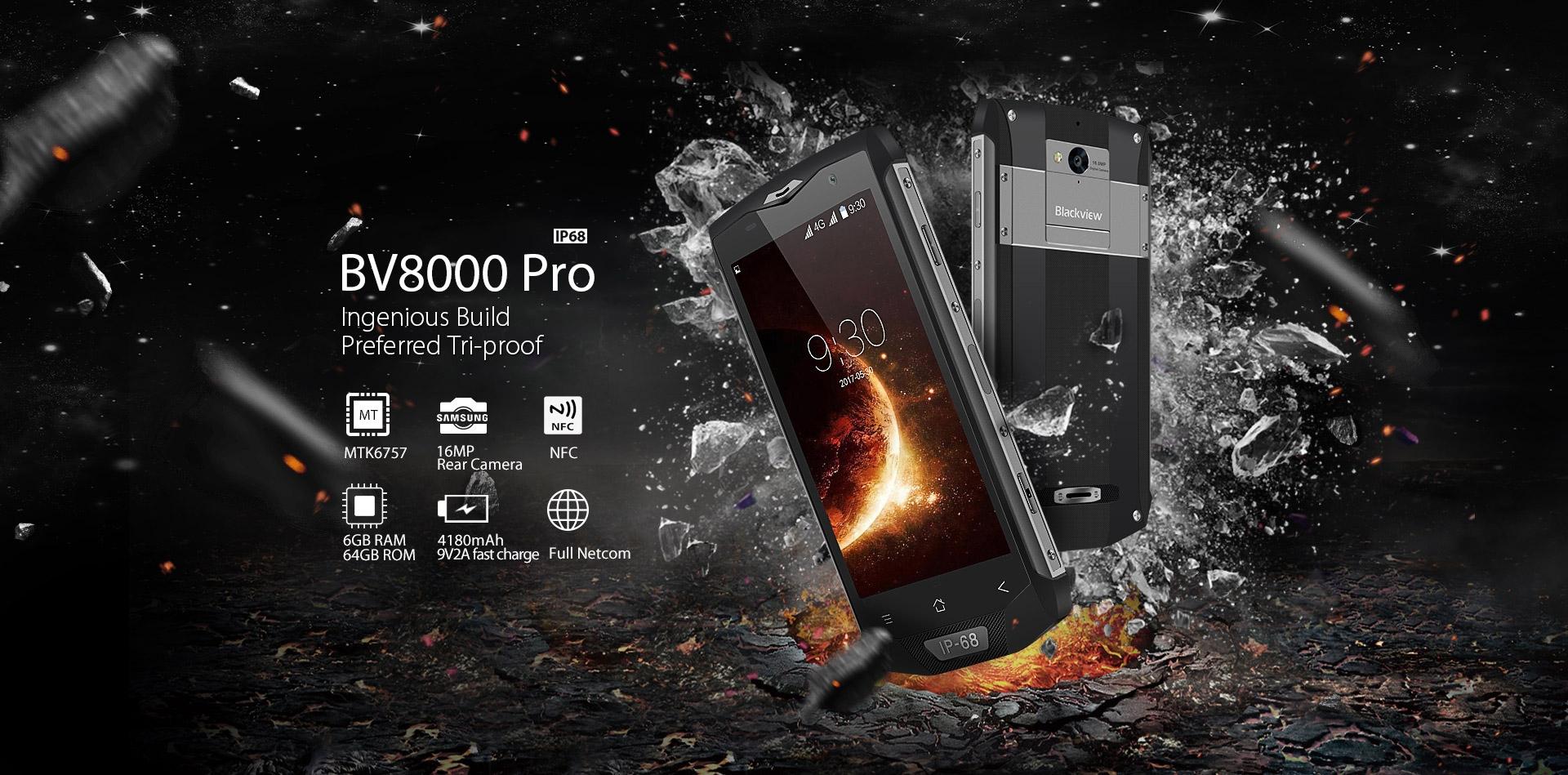 blackview bv9000 pro smartphone incassable
