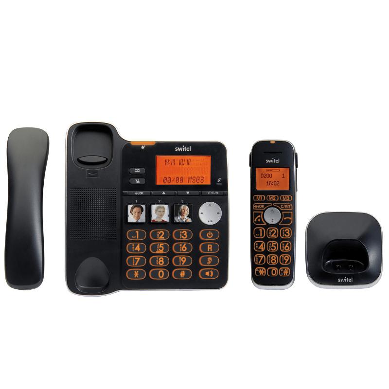 SWITEL D200 téléphone sans-fil et base