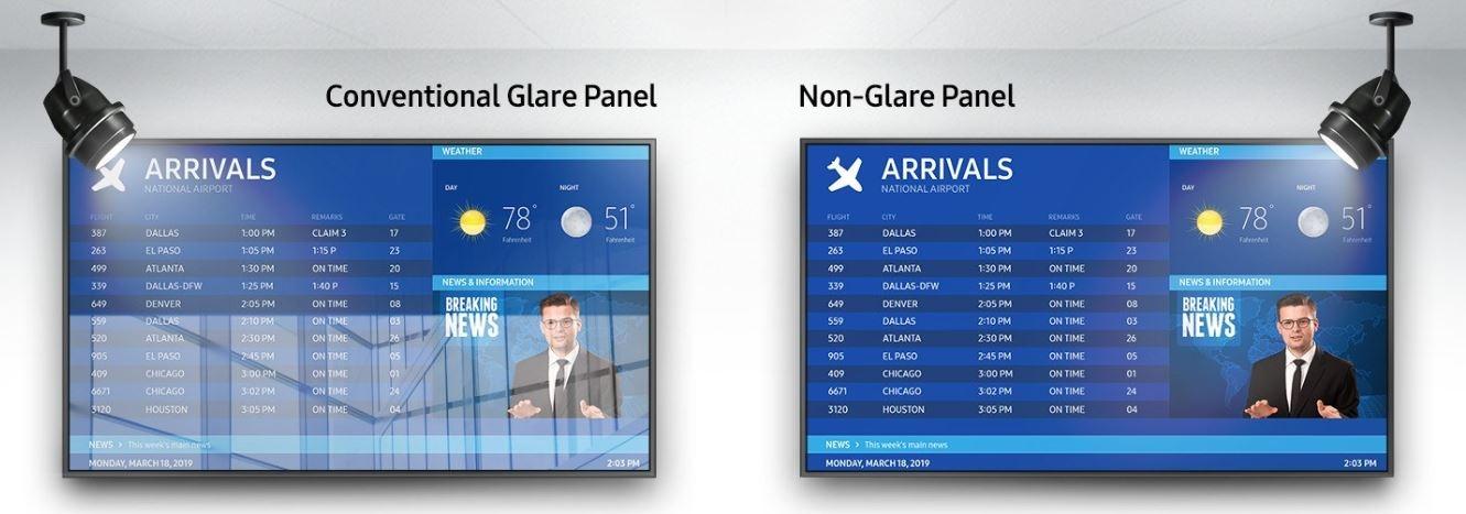 Dalle anti-relets Samsung QM65R