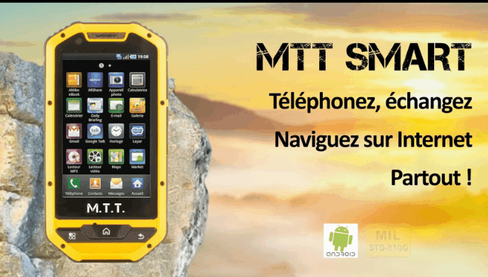mtt smart multimedia v2 jaune smartphone durci mtt. Black Bedroom Furniture Sets. Home Design Ideas