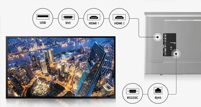 TOP 3 écran affichage dynamique Samsung DC43J connectique